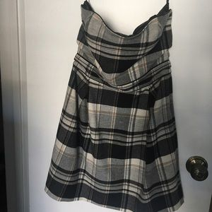FCUK French Connection plaid wool cocktail dress